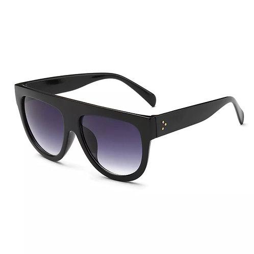 """Flat Top Cutie"" Sunglasses Black On Black"