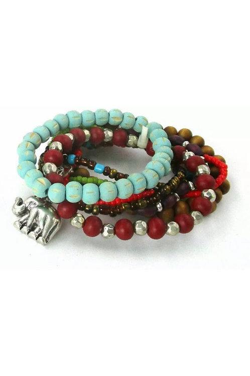 """""""Lucky"""" Multi-Layered Stretch Bracelet"""