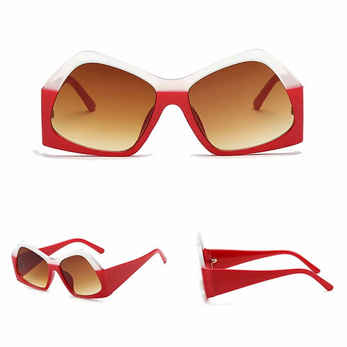 """Ice""  Two-Toned Sunnies in Red &White"