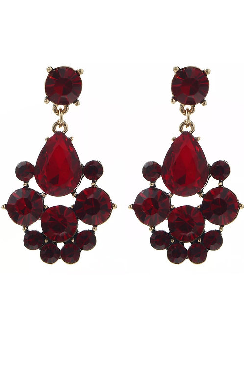"""Vision of Love"" Red  Glam Earrings"