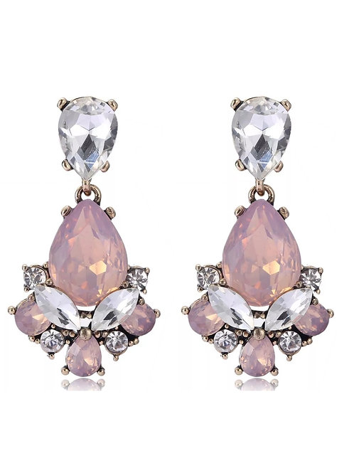 """Vision of Love"" Pink Glam Earrings"