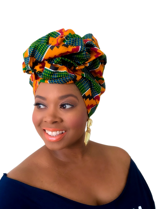 """""""Traditional"""" African Print Head Wrap"""