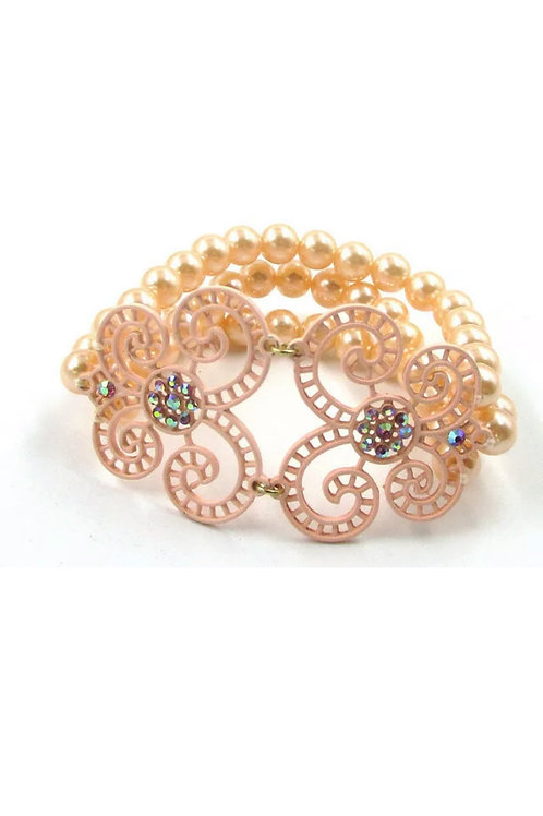 """Just Peachy"" Stretch Bracelet"