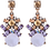 Thumbnail: Lilac Antique Styled Earrings