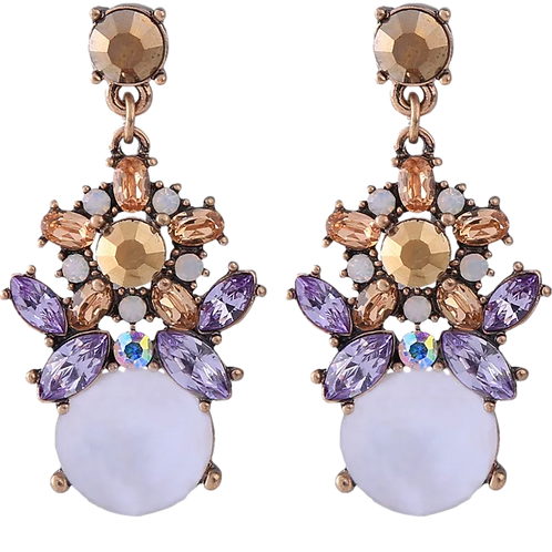 Lilac Antique Styled Earrings