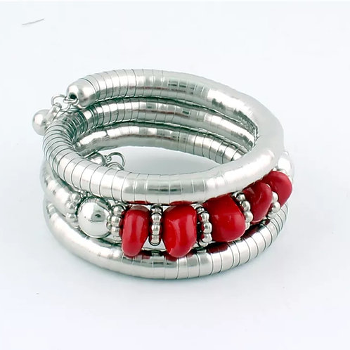 """Ruby & Charmed"" Bangle Bracelet"