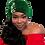 "Thumbnail: ""Holiday"" Green Turban with Coordinating Brooch"