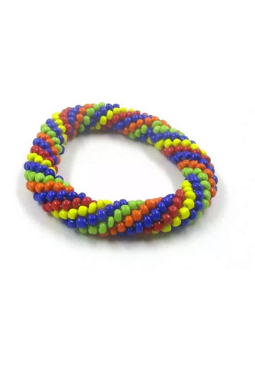 """Skittles"" Stretch Bracelet"