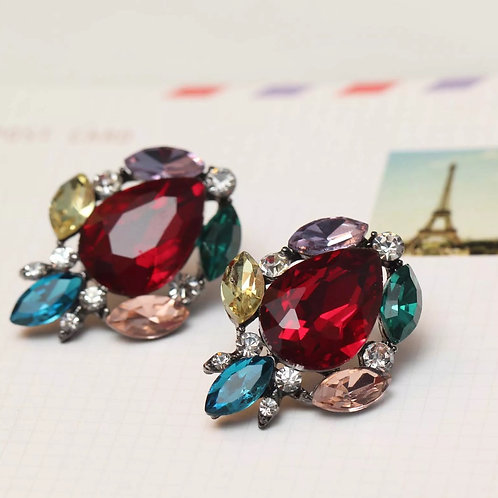 """Ruby Princess"" Glam Earrings"