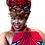 """Thumbnail: """"Red & Turquoise"""" African Print Head Wrap"""