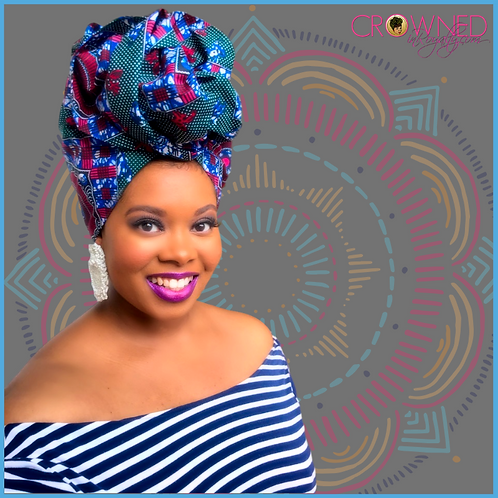 """Quad"" African Print Head Wrap"