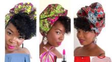 Lipstick & Lemonade African Print Head Wrap Collection