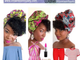 Lipstick & Lemonade African Print Head Wrap Collection