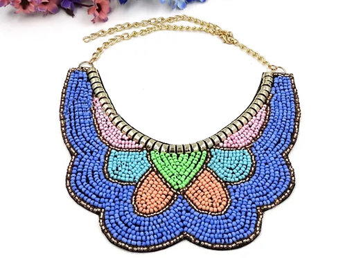 """""""Blue Ice"""" Beaded Necklace"""