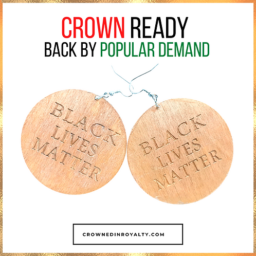 """Black Lives Matter"" Earrings"