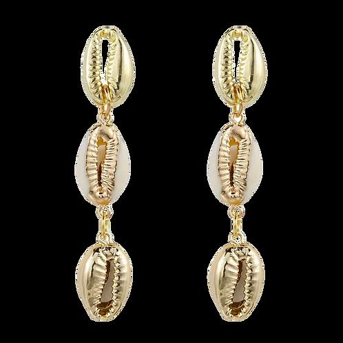 """Shells"" Neutral Pendant Earrings"