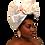 """Thumbnail: """"Champaign"""" Summer White Silk Head Wrap"""