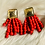 "Thumbnail: ""Woodlands"" Earrings in Trendsetter Delicious Red"