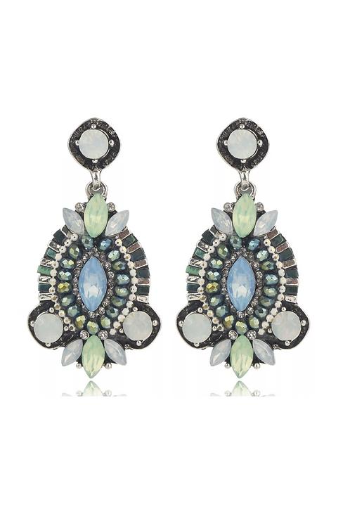 """Prissy in Green"" Elegant Earrings"
