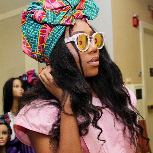 """Vibe"" African Print Head Wrap"