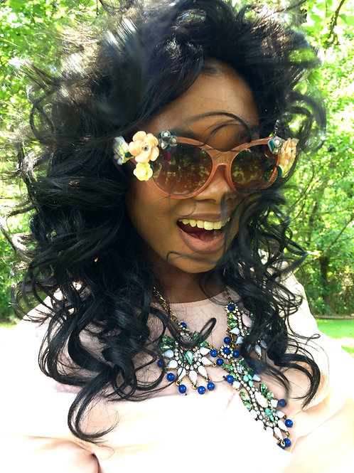 """Baroque"" Peach 3 D Sunglasses"