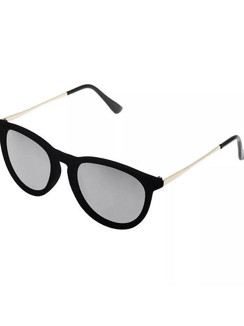 """""""Black Velvet""""  Sun Glasses  Silver Frames"""