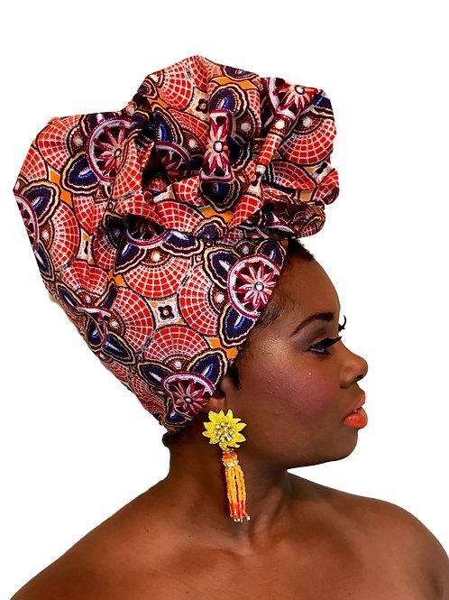 """Sheba"" African Wax Print Head Wrap"