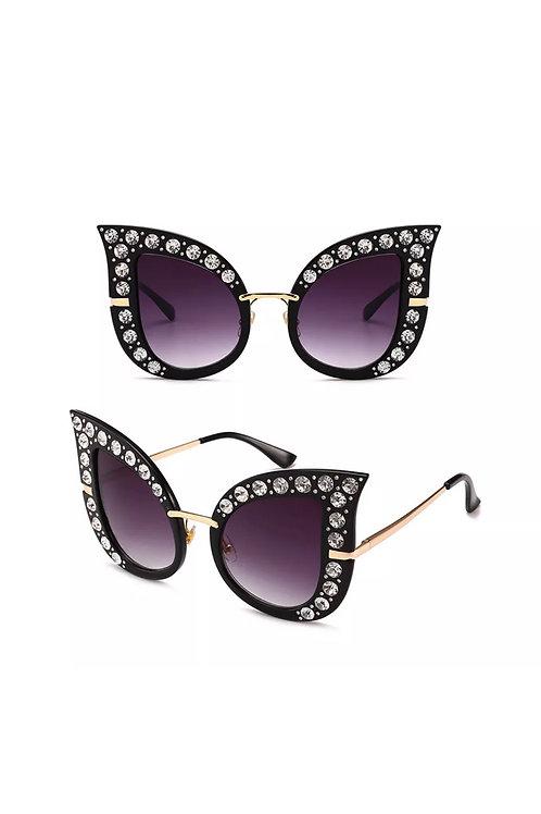"""Sanai""  Oversized Lux Rhinestone Sunglasses"