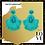 "Thumbnail: ""Greatest Inspiration"" Turquoise Beaded Earrings"
