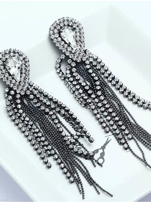 """Chandelier"" Luxe Rhinestone Earrings"