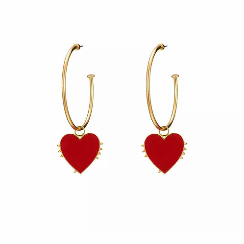 """""""Heart of Gold"""" Plated Gold Earrings"""
