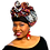 """Thumbnail: """"African Print Headwrap in Purple & Gold"""