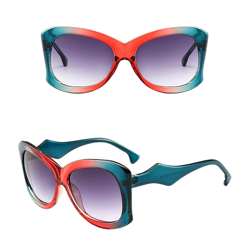 """Mango""Two-Toned Sunnies"