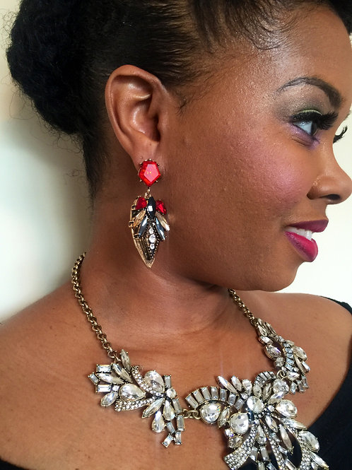 """Ruby"" Glam Earrings"