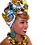 "Thumbnail: ""African Print Headwrap in Rich Gold & Denim"