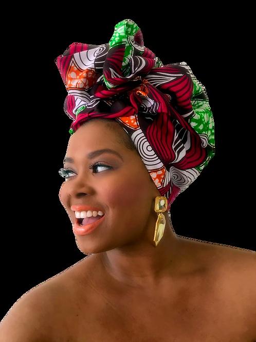 """Marvel"" African Print Head Wrap"