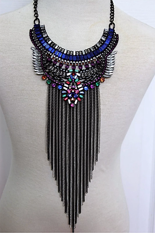 """""""Rainbow"""" Lengthy Colorful Necklace"""