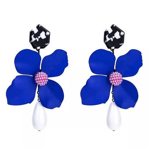 """Perfect Petal"" Royal Purple Oversized Dangle Earrings"
