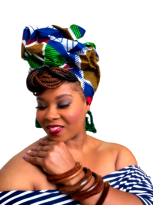 """""""Sacred""""Traditional"""" African Print Head Wrap"""