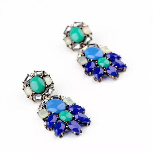 """""""Elaine"""" Glam Chandelier Earrings"""
