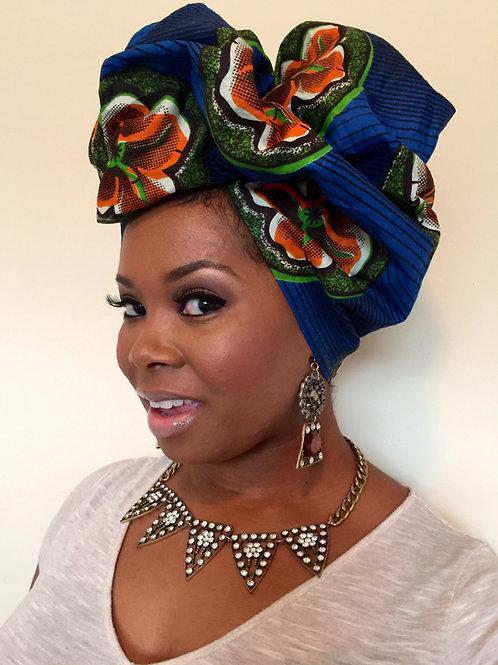 """""""In Royal Bloom"""" African Print Head Wrap"""