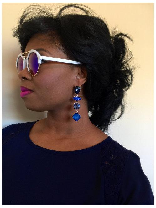 """Arizona Blue"" Dangle Drop Earrings"
