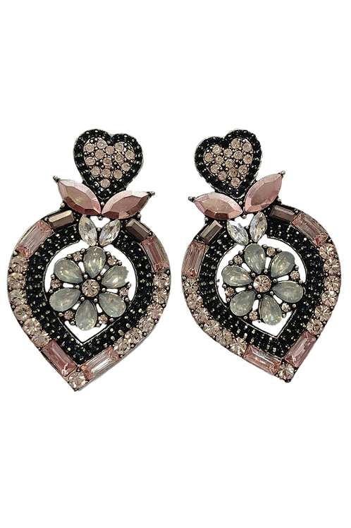 """""""Queen of Hearts"""" Topaz Chunky Cluster Studs"""