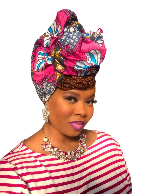 """Shapely"" African Print Head Wrap"
