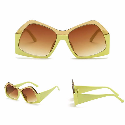 """Ice""  Two-Toned Sunnies in Lime & Neutral"