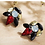 Thumbnail: Red Classic Stud Earrings