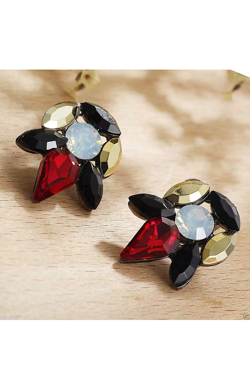 Red Classic Stud Earrings