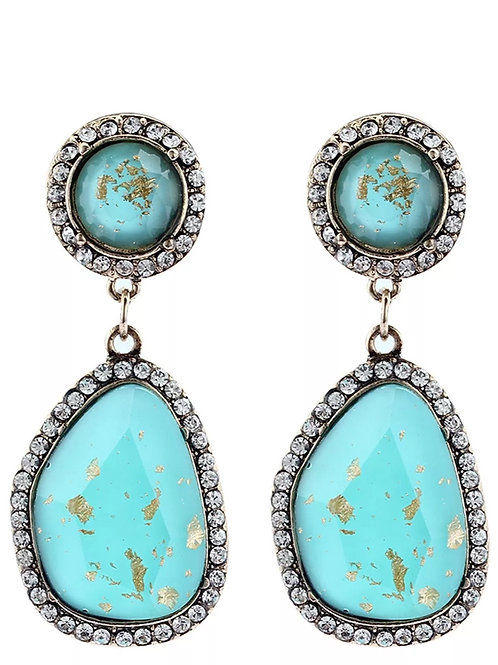"""Ocean"" Glam Earrings"