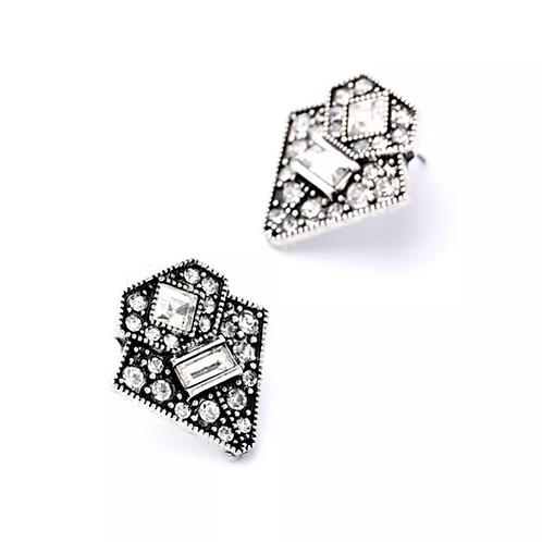 """Elle"" Geometric Rhinestone Earrings"