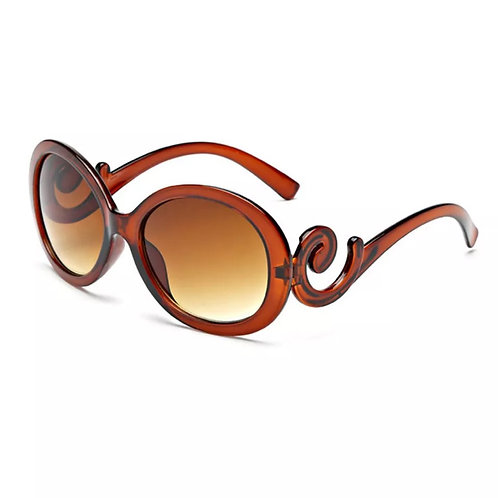 """""""Vintage Funday"""" In Caramel Sunglasses"""